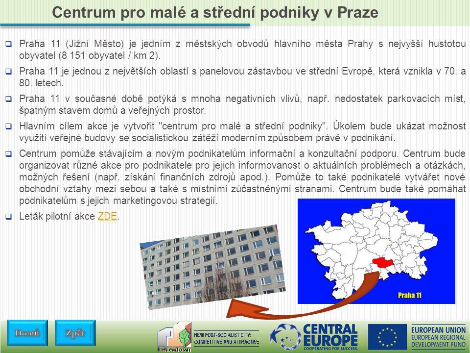 Centrum pro malé a střední podniky v Praze  Praha 11 (Jižní Město) je jedním z městských obvodů hlavního města Prahy s nejvyšší hustotou obyvatel (8 151 obyvatel / km 2).