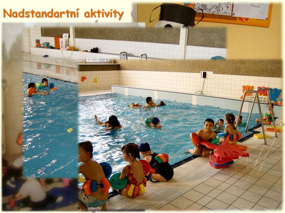 Nadstandartní aktivity • Výuka na zobcovou flétničku • Výtvarné činnosti • Návštěvy solné jeskyně • Plavecký výcvik