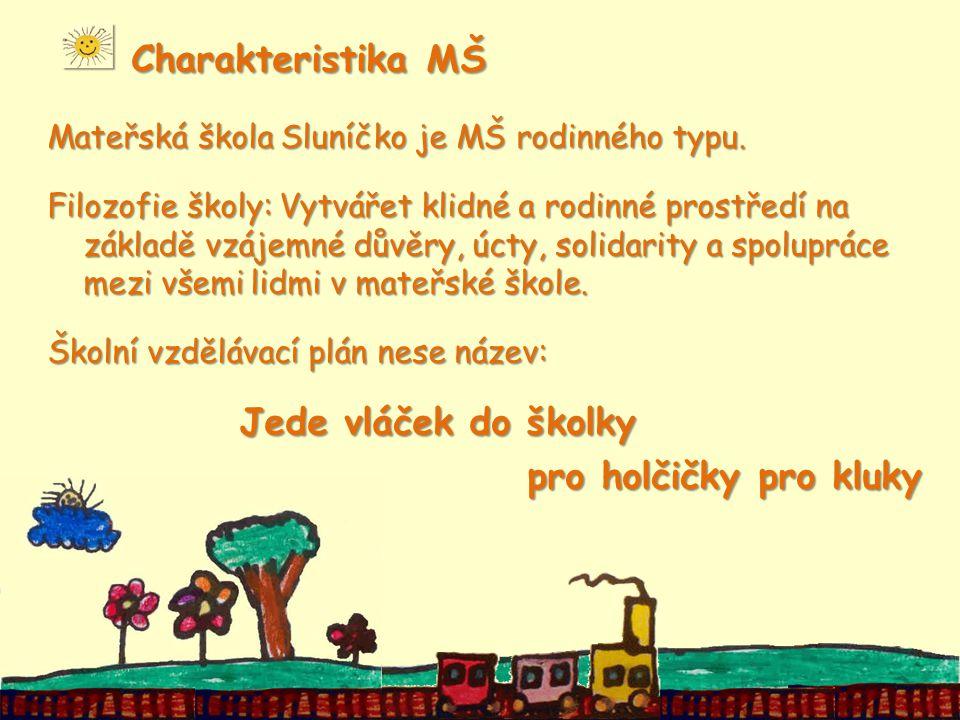 Charakteristika MŠ Charakteristika MŠ Mateřská škola Sluníčko je MŠ rodinného typu.