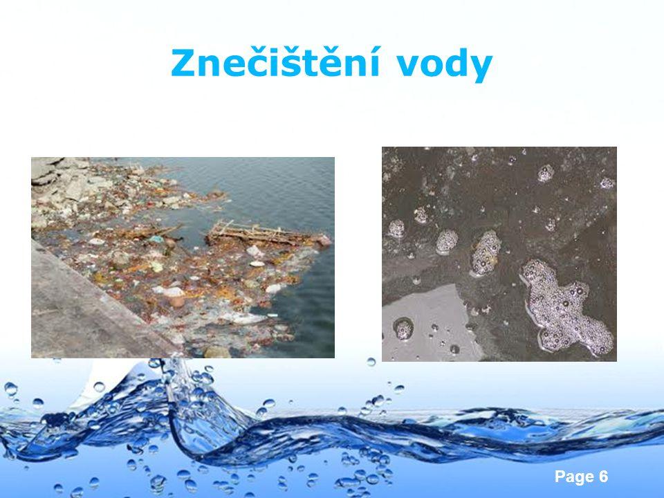 Page 6 Znečištění vody