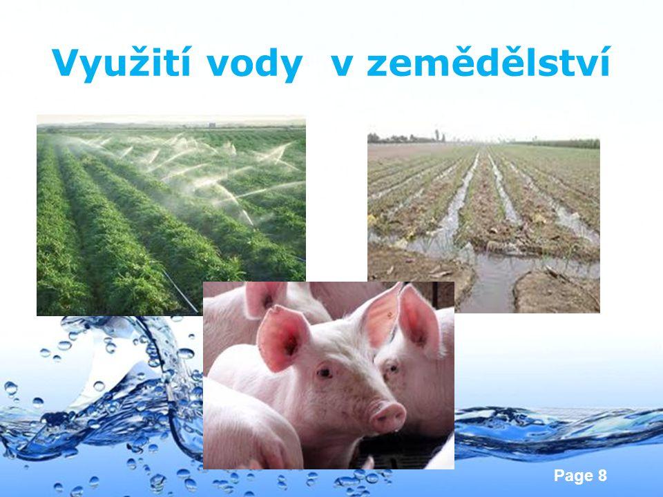 Page 8 Využití vody v zemědělství