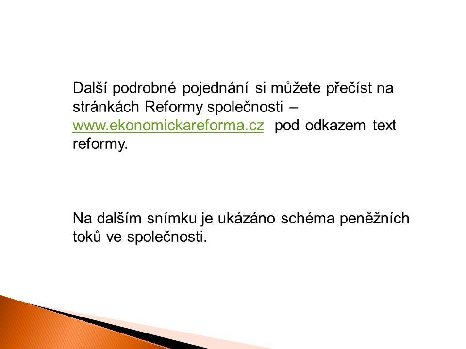 Další podrobné pojednání si můžete přečíst na stránkách Reformy společnosti – www.ekonomickareforma.cz pod odkazem text reformy.