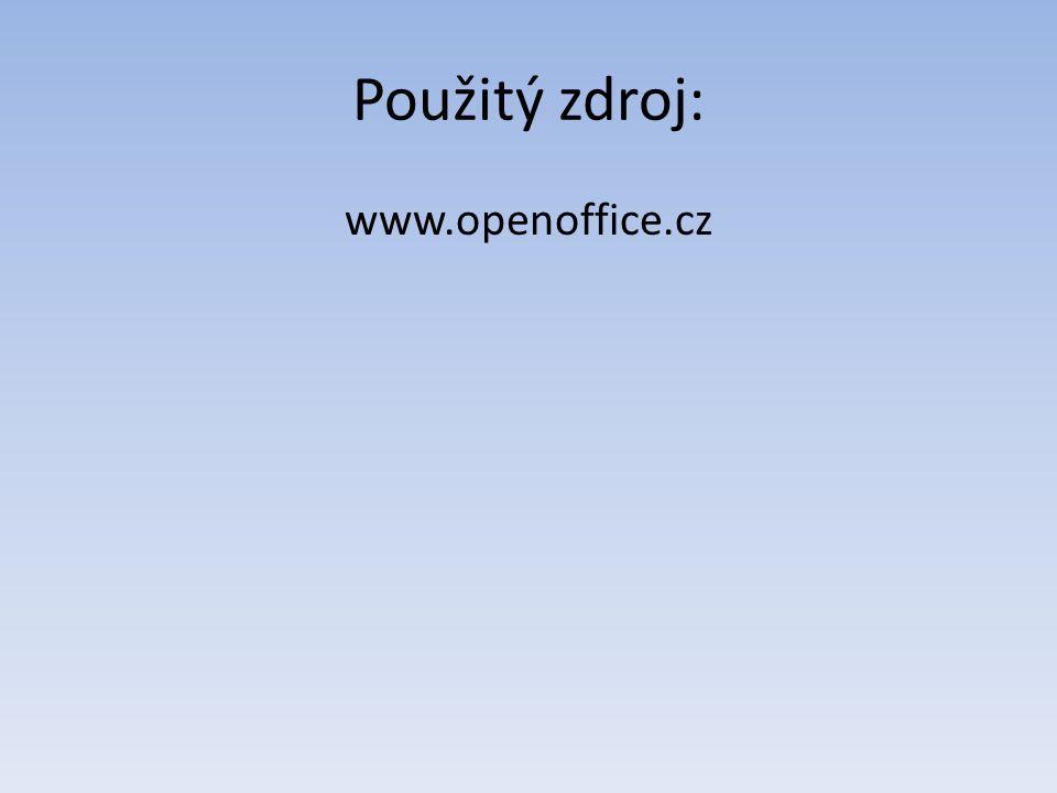 Použitý zdroj: www.openoffice.cz