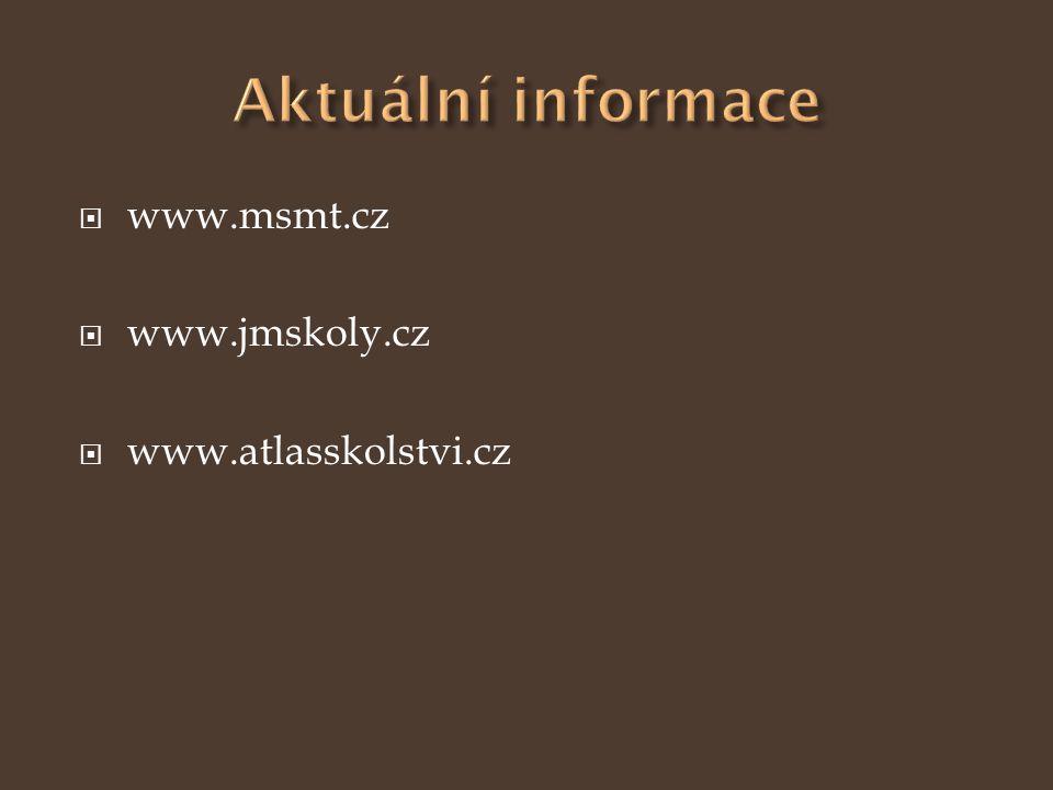  www.msmt.cz  www.jmskoly.cz  www.atlasskolstvi.cz