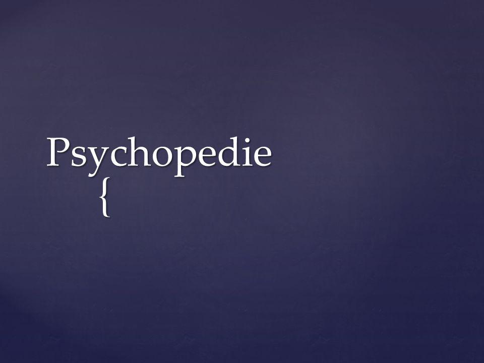 { Psychopedie