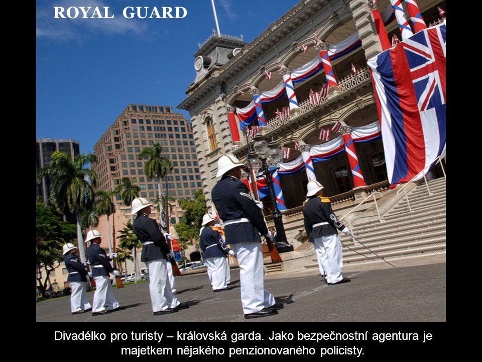 IOLANI PALACE - HONOLULU Liliuokalani byla v letech 1891-1893 poslední královnou Havajských ostrovů. Tento palác byl jejím posledním sídlem. Je přístu
