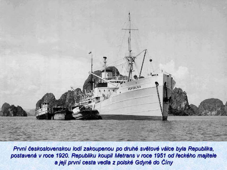 První československou lodí zakoupenou po druhé světové válce byla Republika, postavená v roce 1920. Republiku koupil Metrans v roce 1951 od řeckého ma