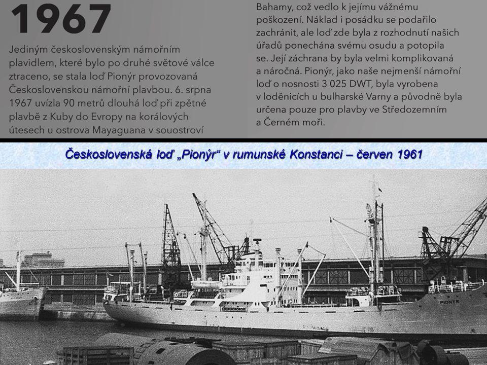"""Československá loď """"Pionýr"""" v rumunské Konstanci – červen 1961"""