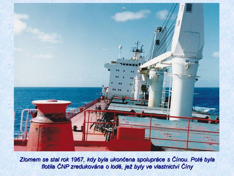 Zlomem se stal rok 1967, kdy byla ukončena spolupráce s Čínou. Poté byla flotila ČNP zredukována o lodě, jež byly ve vlastnictví Číny