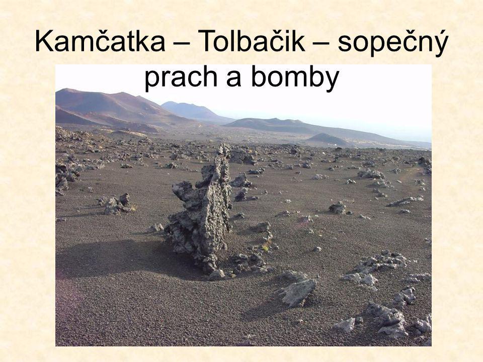 Kamčatka – Tolbačik – sopečný prach a bomby