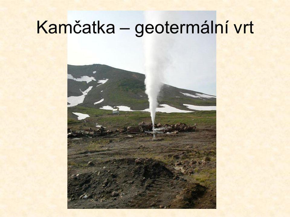 Kamčatka – geotermální vrt