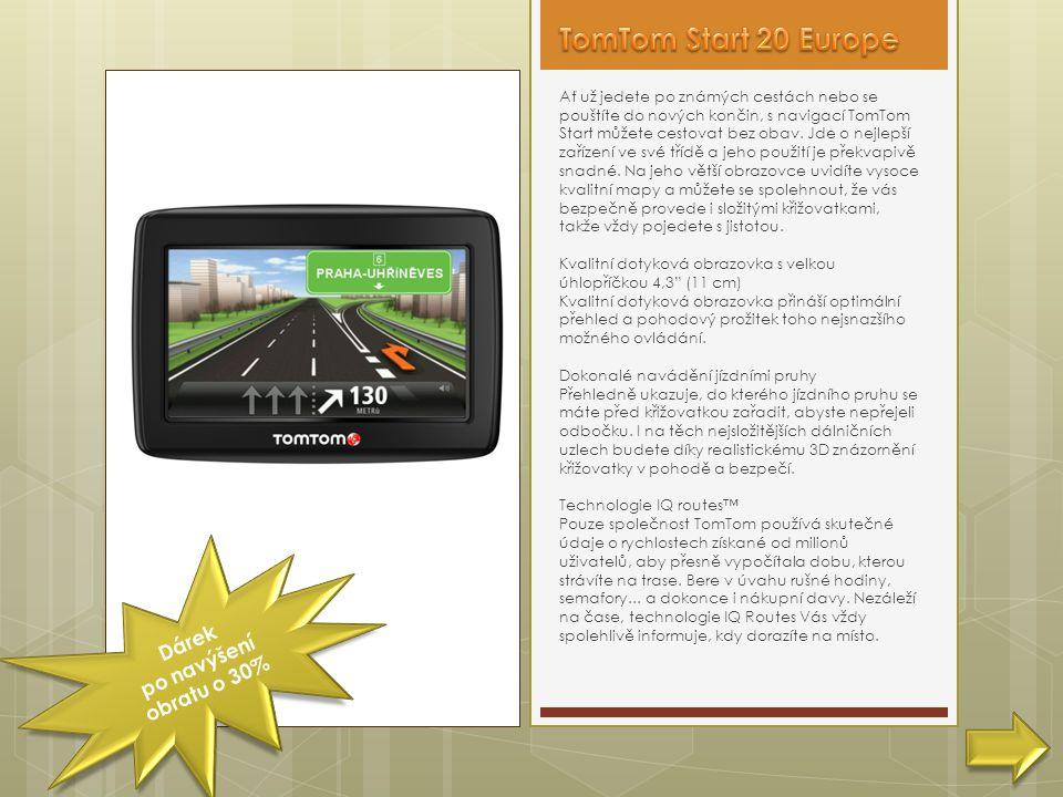Ať už jedete po známých cestách nebo se pouštíte do nových končin, s navigací TomTom Start můžete cestovat bez obav.