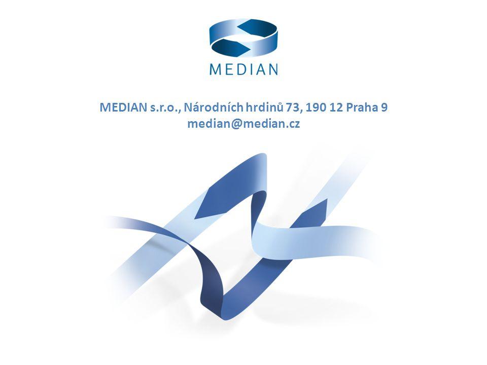 MEDIAN s.r.o., Národních hrdinů 73, 190 12 Praha 9 median@median.cz