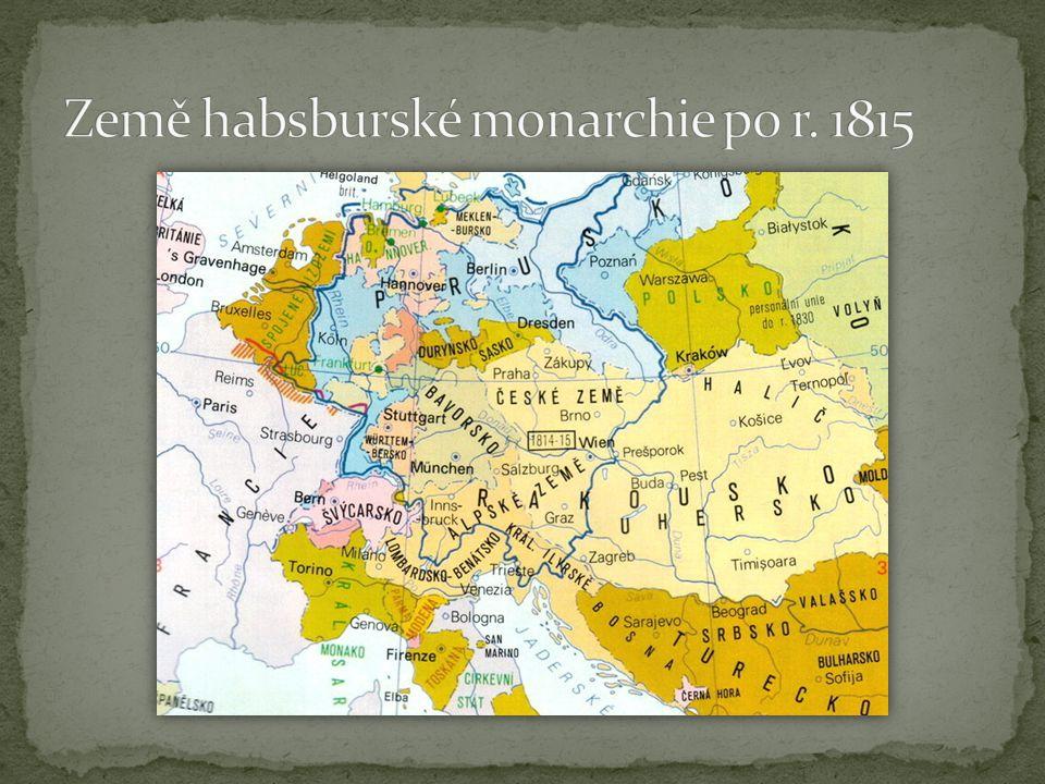 Krok zpět  opuštění politiky osvícenských reforem  snaha zachovat společenské vztahy z doby před VFR, nebo dokonce před samotným osvícenstvím  kníže Metternich a Napoleon Bonaparte = dva nejvýraznější muži v jeho životě František I.