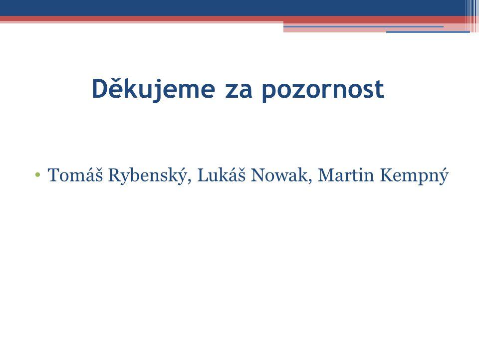 Děkujeme za pozornost • Tomáš Rybenský, Lukáš Nowak, Martin Kempný