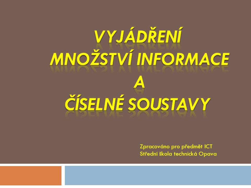 Zpracováno pro předmět ICT Střední škola technická Opava