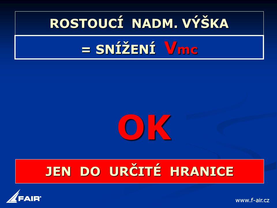 = SNÍŽENÍ V mc OK JEN DO URČITÉ HRANICE ROSTOUCÍ NADM. VÝŠKA www.f-air.cz
