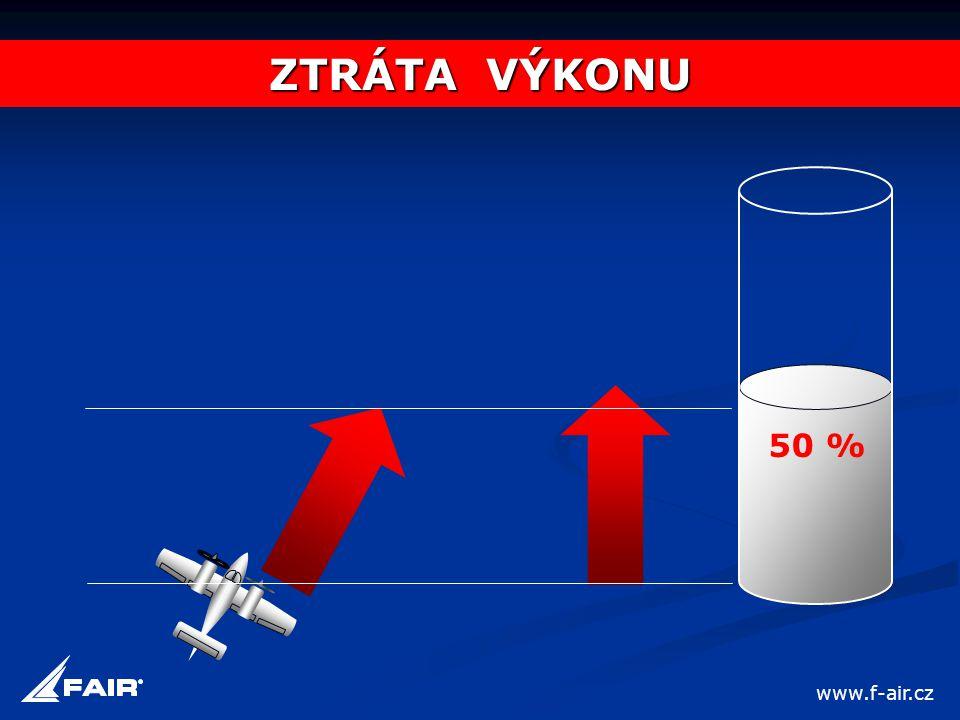 50 % ZTRÁTA VÝKONU www.f-air.cz