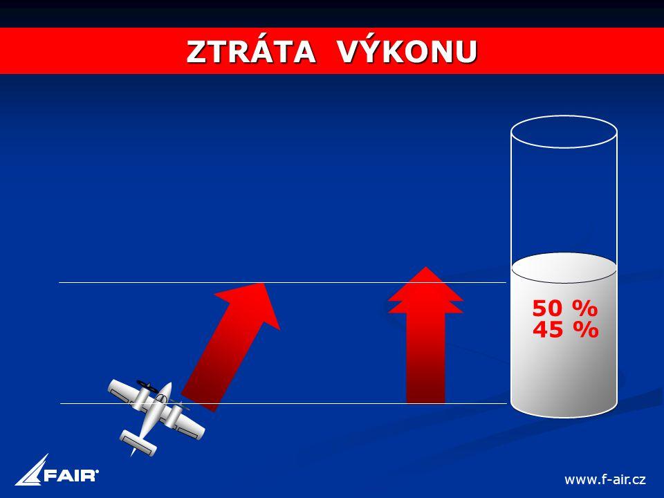 50 % 45 % ZTRÁTA VÝKONU www.f-air.cz