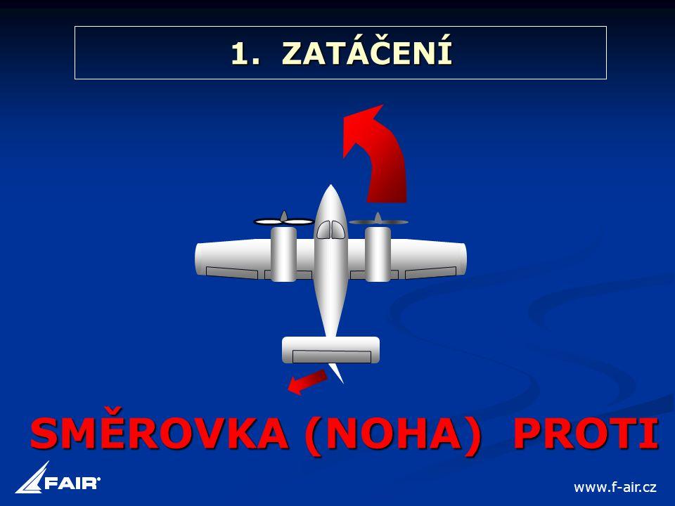 1. ZATÁČENÍ SMĚROVKA (NOHA) PROTI www.f-air.cz