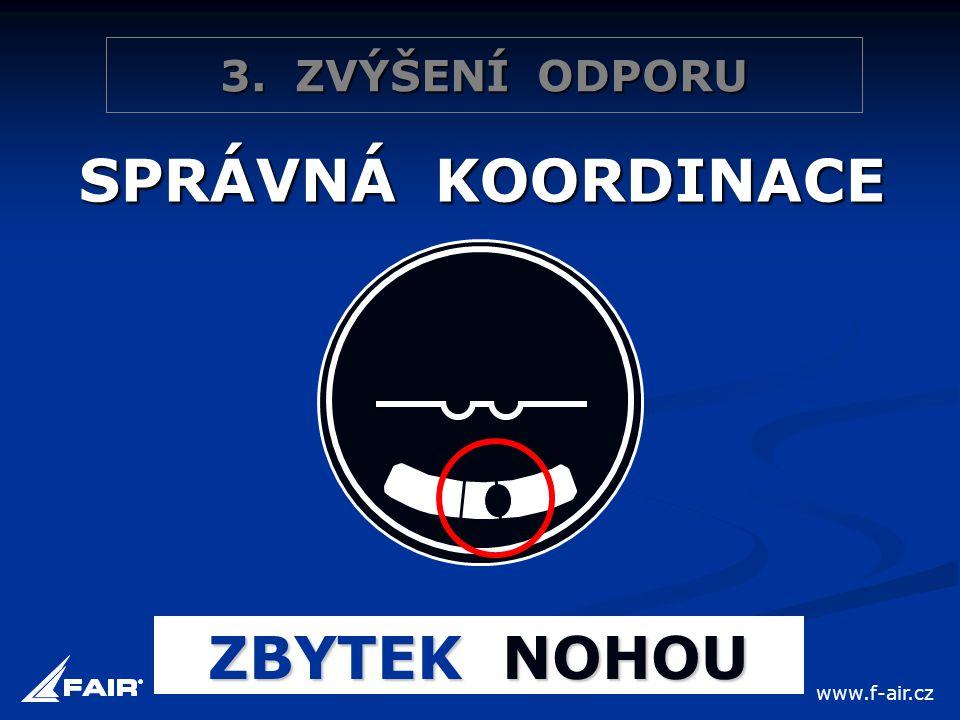 3. ZVÝŠENÍ ODPORU SPRÁVNÁ KOORDINACE ZBYTEK NOHOU www.f-air.cz