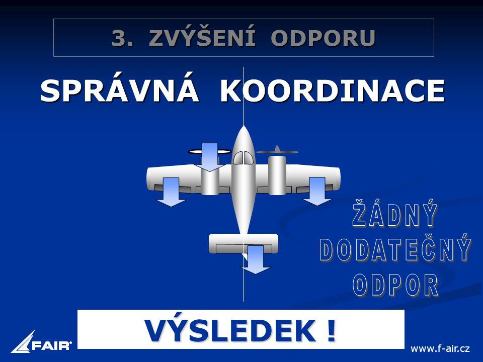3. ZVÝŠENÍ ODPORU SPRÁVNÁ KOORDINACE VÝSLEDEK ! www.f-air.cz