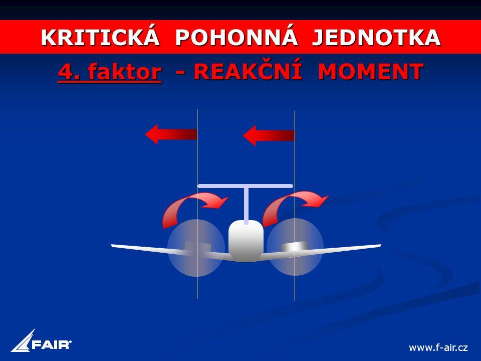 KRITICKÁ POHONNÁ JEDNOTKA 4. faktor - REAKČNÍ MOMENT www.f-air.cz
