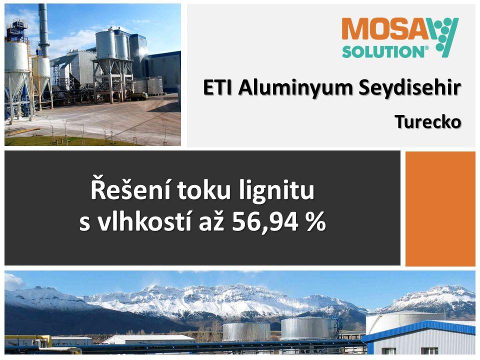 Turecko Řešení toku lignitu s vlhkostí až 56,94 % ETI Aluminyum Seydisehir