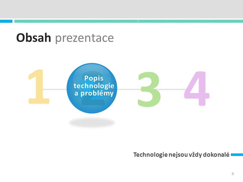 Obsah prezentace Technologie nejsou vždy dokonalé 1 3 4 6 2 Popis technologie a problémy
