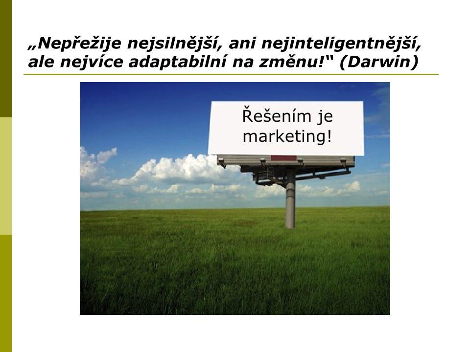 """""""Nepřežije nejsilnější, ani nejinteligentnější, ale nejvíce adaptabilní na změnu!"""" (Darwin)"""