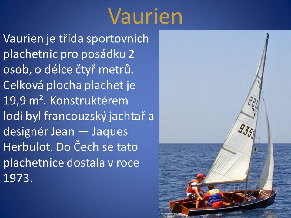 Vaurien Vaurien je třída sportovních plachetnic pro posádku 2 osob, o délce čtyř metrů. Celková plocha plachet je 19,9 m². Konstruktérem lodi byl fran