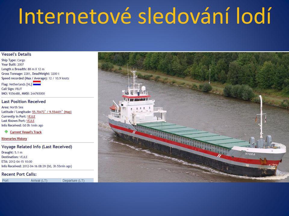 Internetové sledování lodí Na