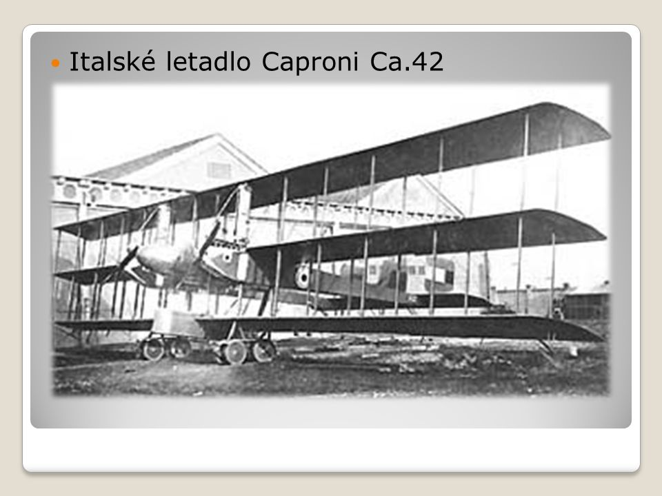  Italské letadlo Caproni Ca.42
