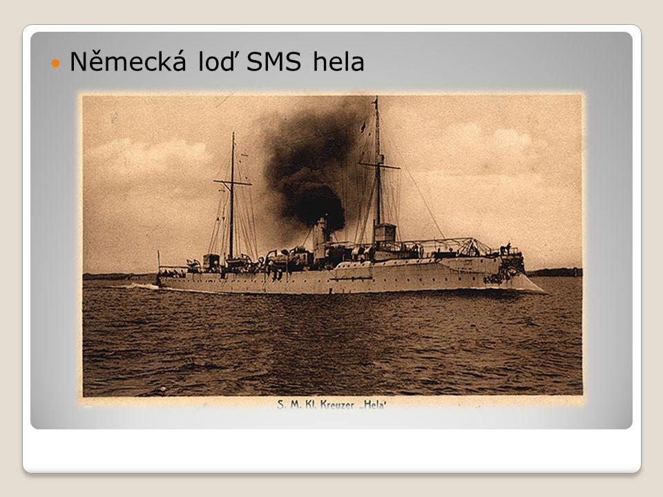  Německá loď SMS hela