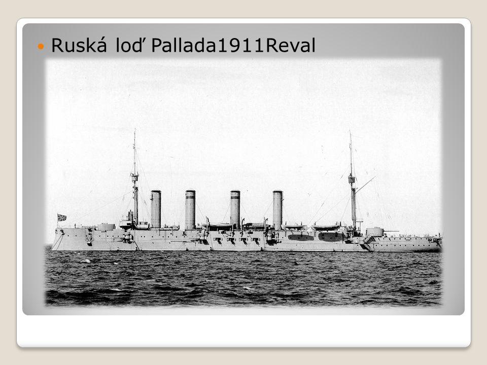  Ruská loď Pallada1911Reval