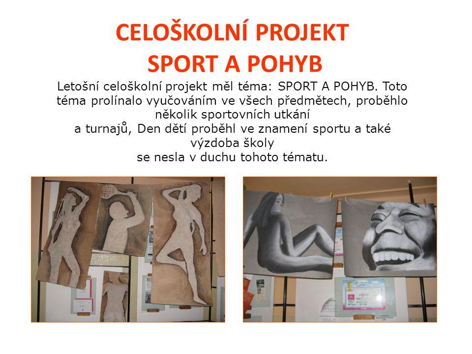 CELOŠKOLNÍ PROJEKT SPORT A POHYB Letošní celoškolní projekt měl téma: SPORT A POHYB.