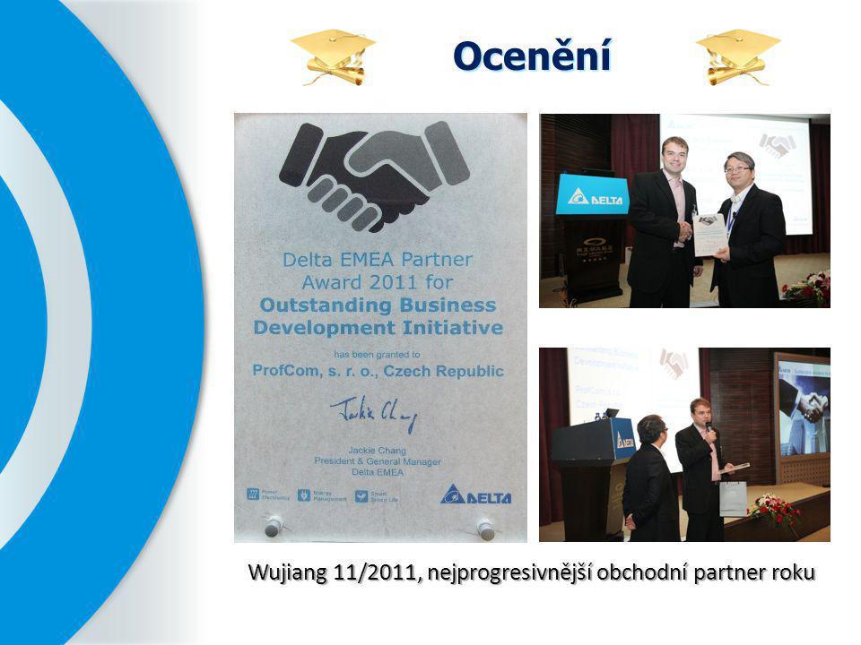 Ocenění Wujiang 11/2011, nejprogresivnější obchodní partner roku