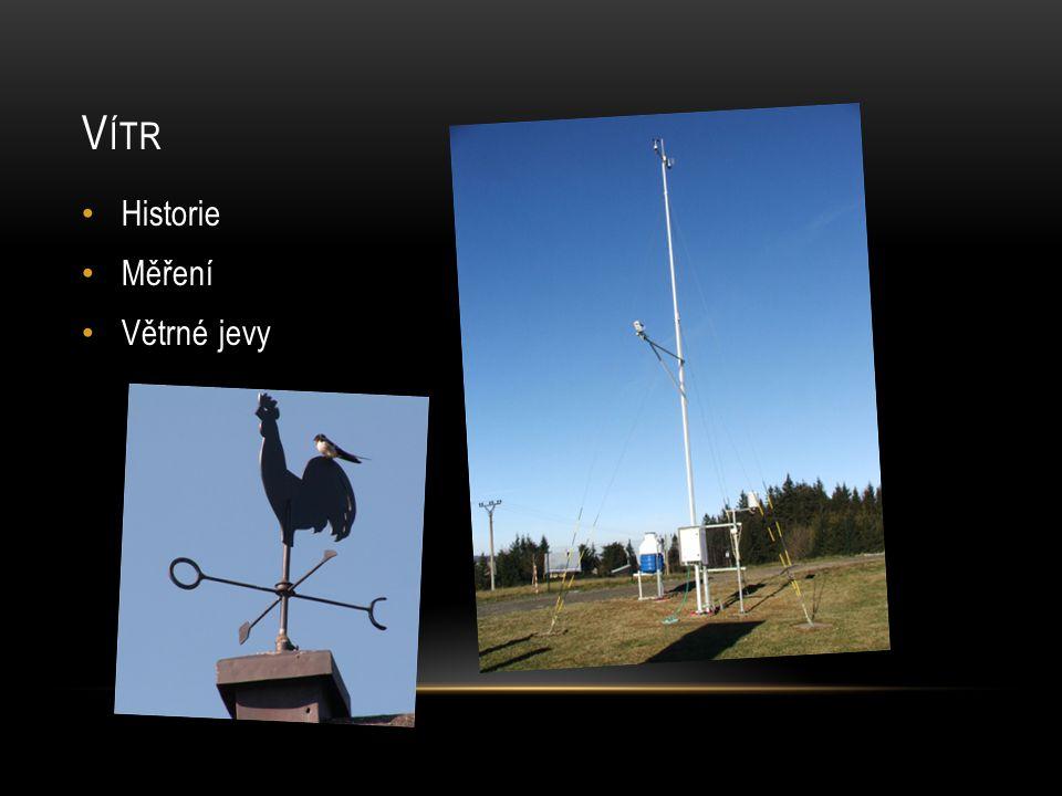 V ÍTR • Historie • Měření • Větrné jevy