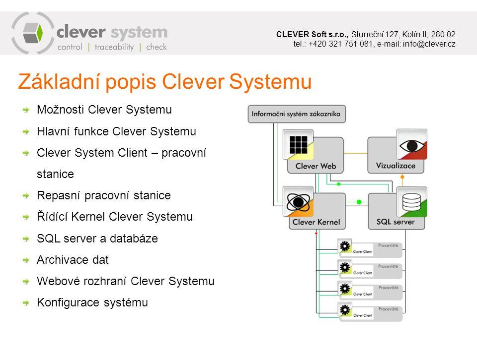 Nestandardní situace CLEVER System – Nečitelná jmenovka Tento kód vynechá v nouzovém případě načítání sériového čísla © CLEVER Soft s.r.o.