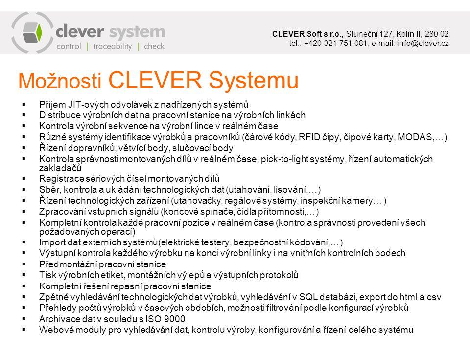 SQL Server Všechna technologická data jsou bezpečně ukládána do SQL databáze.