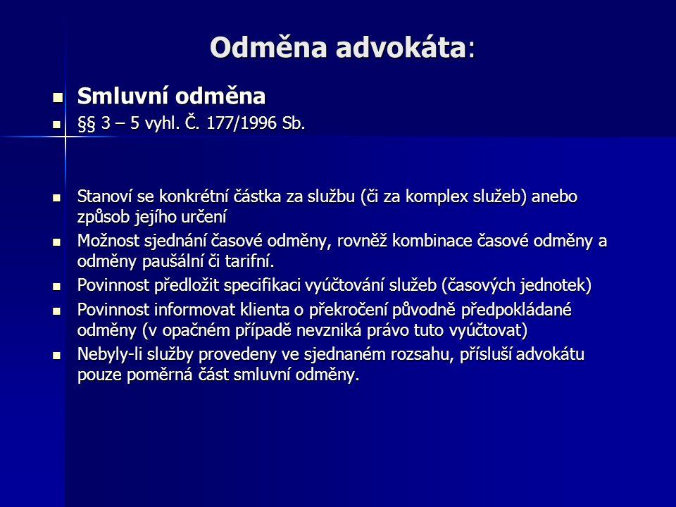 Náhrada nákladů řízení Náhrada nákladů řízení dle OSŘ (ust.