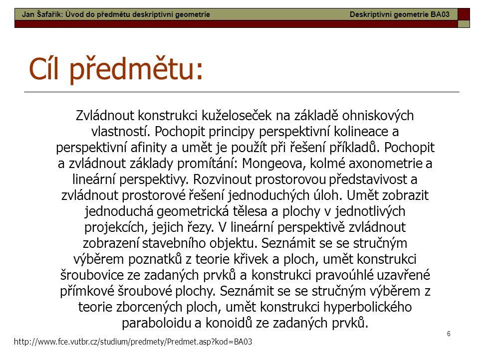 27 Přímý šroubový konoid Schodová plocha Lednice - Minaret Jan Šafařík: Přehled ploch stavební praxeDeskriptivní geometrie BA03