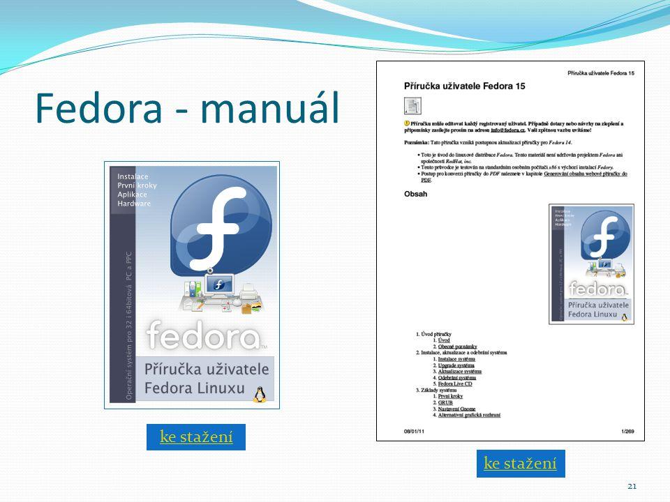 Fedora - manuál 21 ke stažení