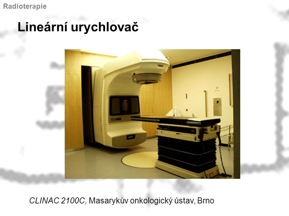 Lineární urychlovač CLINAC 2100C, Masarykův onkologický ústav, Brno Radioterapie