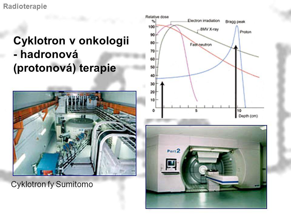 Cyklotron v onkologii - hadronová (protonová) terapie Cyklotron fy Sumitomo Radioterapie