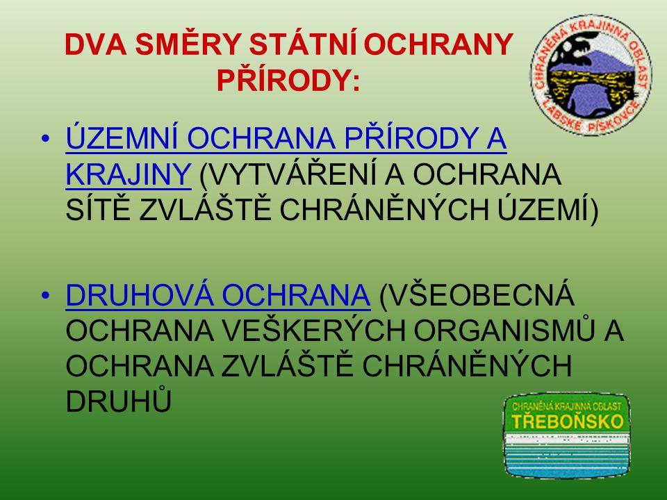 OBECNÁ OCHRANA PŘÍRODY A KRAJINY ZÁKON č.114/1992 Sb.
