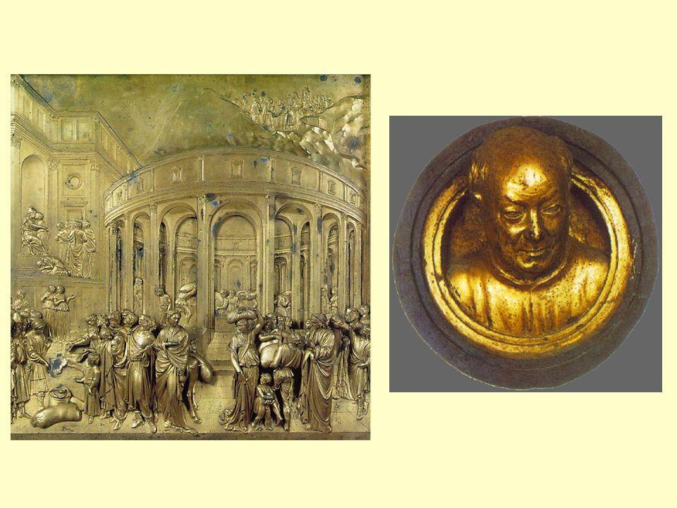 Donatello •Donato di Niccolo di Betto Bardi (1386-1466) •dramatické konflikty •portréty mužů – nositelů životní energie a bojových ctností •díla ve Florencii a Padově •David •sv.