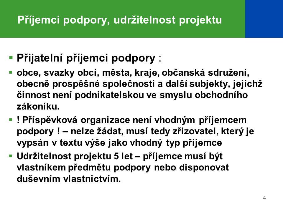 5 Podání žádosti, způsobilost projektu  Vyplnění žádosti v elektronickém prostředí www.opzp.cz – el.