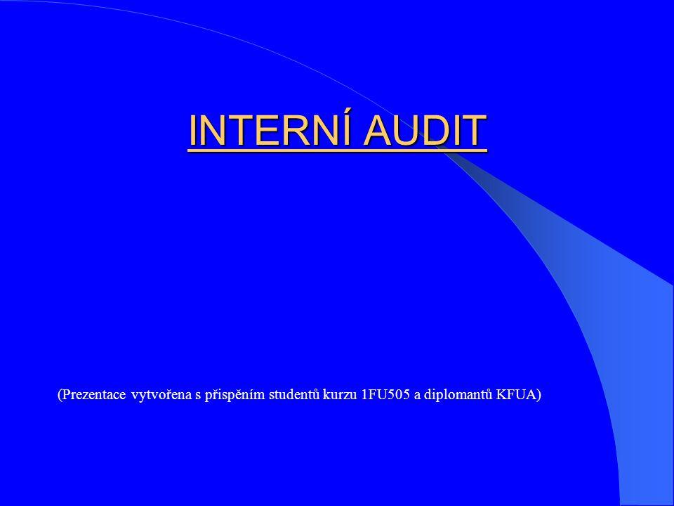INTERNÍ AUDIT (Prezentace vytvořena s přispěním studentů kurzu 1FU505 a diplomantů KFUA)