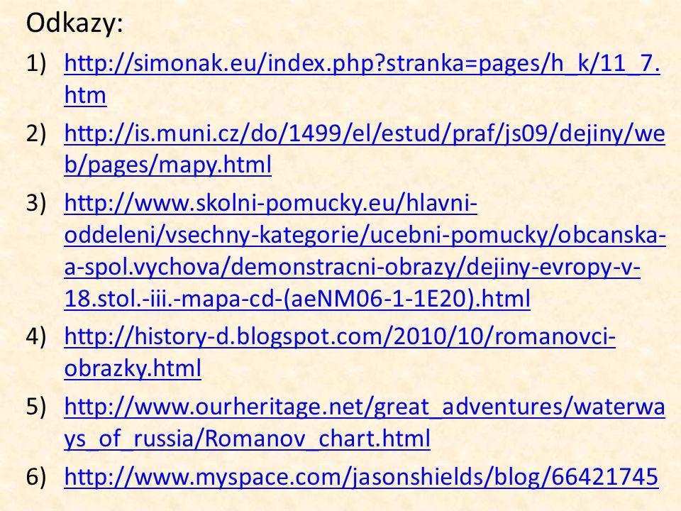 Odkazy: 1)http://simonak.eu/index.php?stranka=pages/h_k/11_7. htmhttp://simonak.eu/index.php?stranka=pages/h_k/11_7. htm 2)http://is.muni.cz/do/1499/e